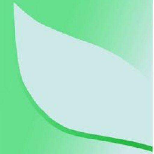 Mike Penhaligon's Logo: Grey leaf on a green backgrund